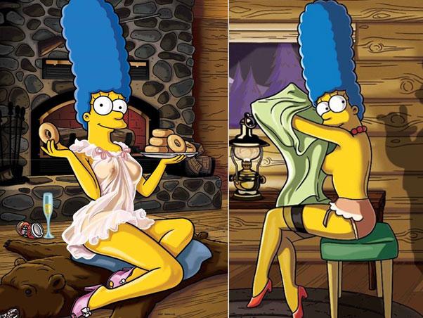 Marge, capa da edição de Dezembro da Playboy Americana